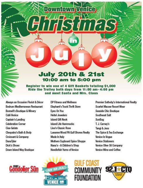 2018 Christmas in July Venice FL