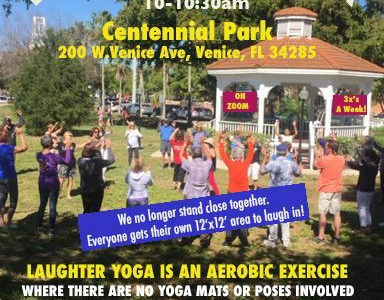 Laughter Yoga in the Park – Venice Florida